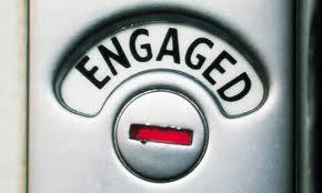 Toilet engaged